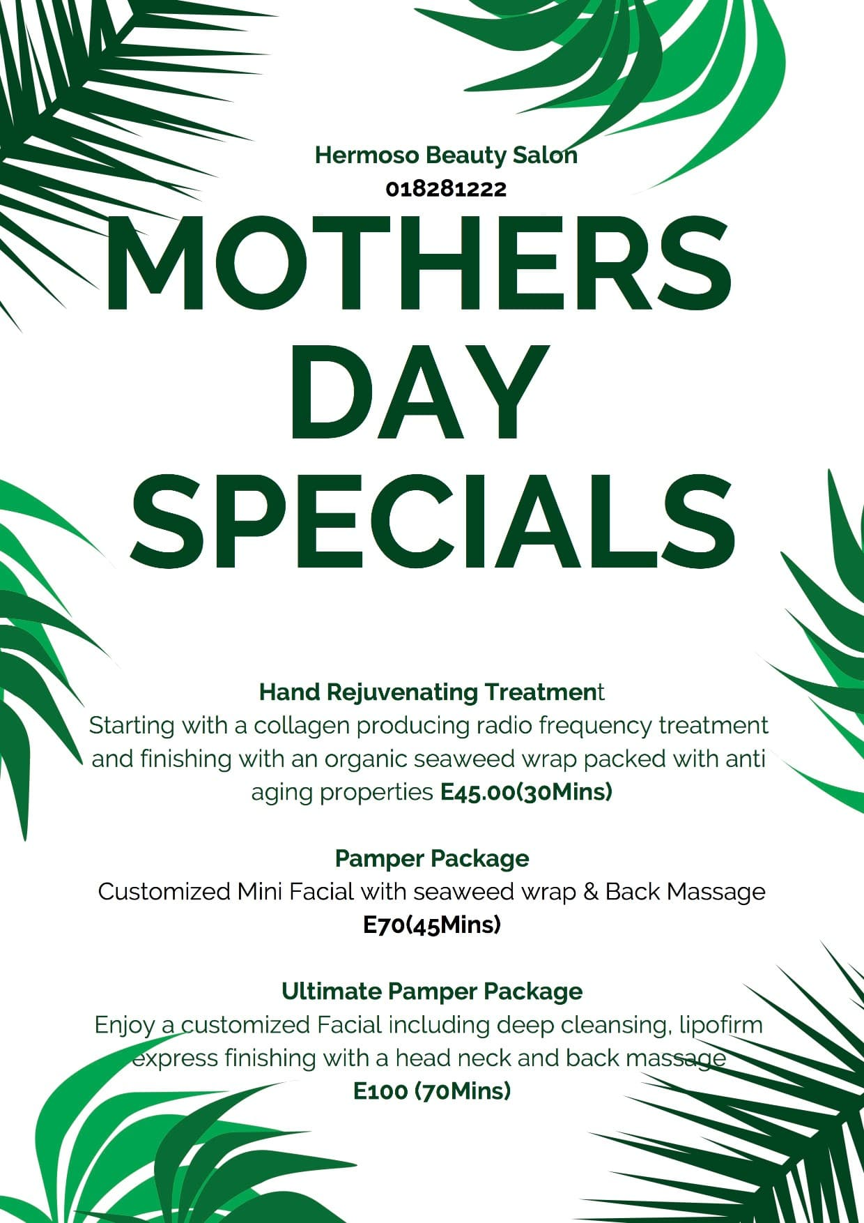 Offer - Mother's Day Special